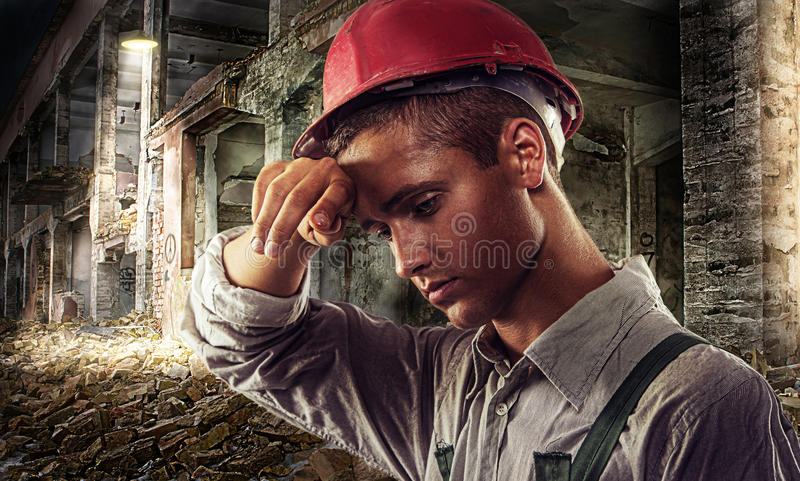 Casa-construtor imagem de stock royalty free