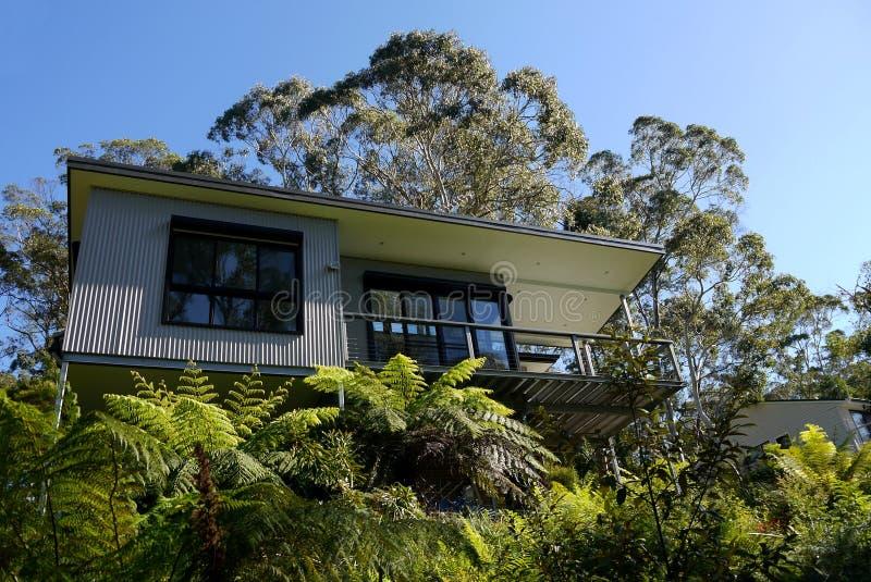 Austrália: casa moderna no arbusto fotos de stock