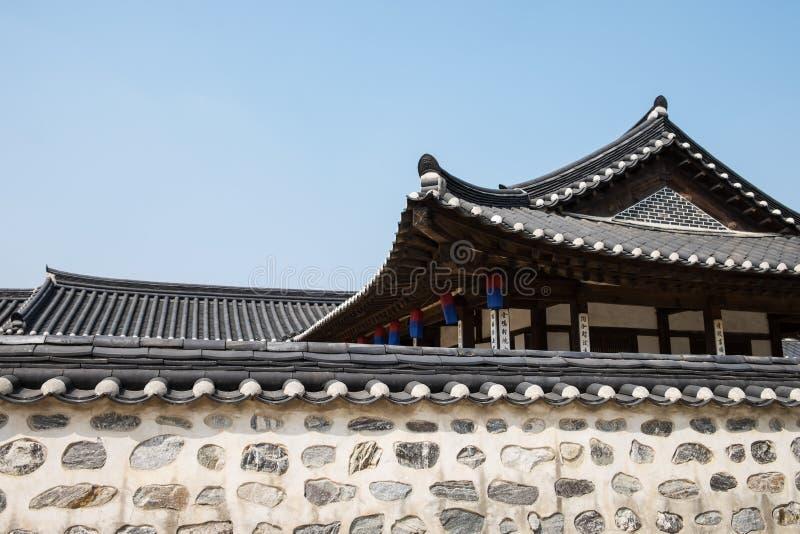 Casa Corea de Hanok foto de archivo libre de regalías
