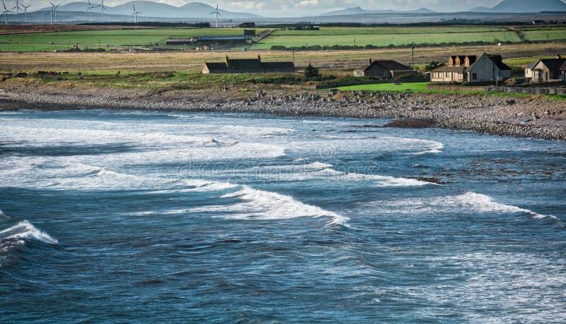 Casa costiera, Scozia del Nord fotografia stock