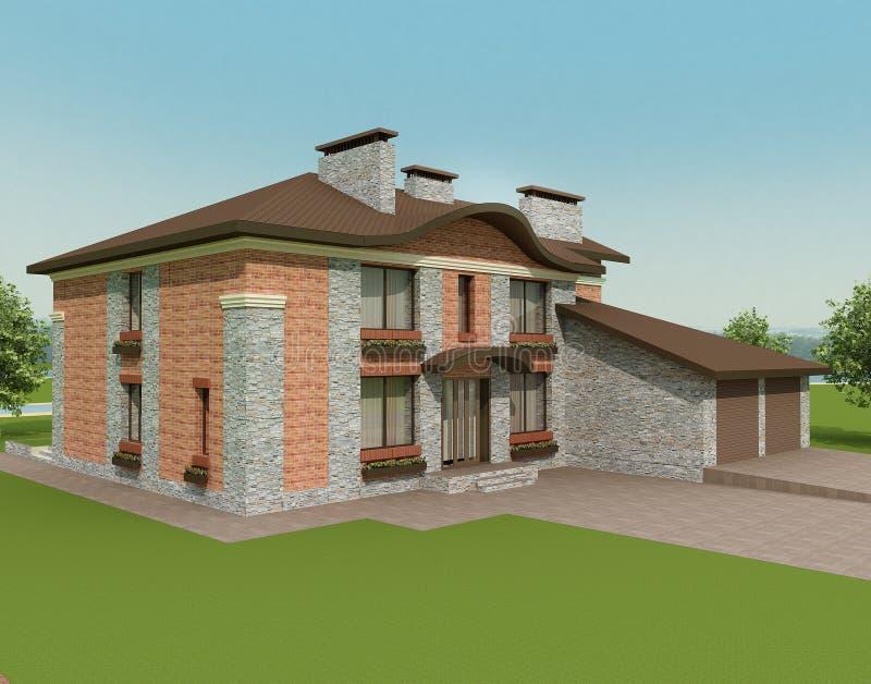 casa *country #2* illustrazione di stock