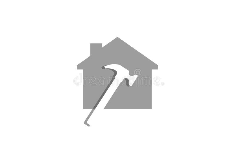 Casa criativa Logo Design Vetora Symbol Illustration de Hummer ilustração royalty free
