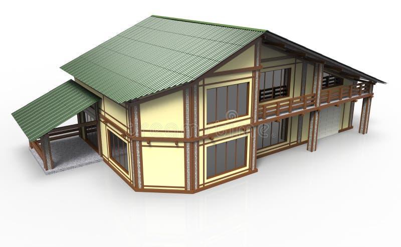 casa 3d ilustração royalty free