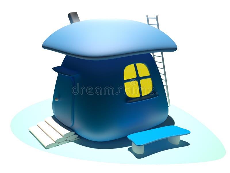 Casa, 3D stock de ilustración