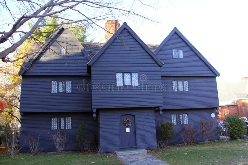 A casa da bruxa, Salem, Massetuchettes fotos de stock royalty free