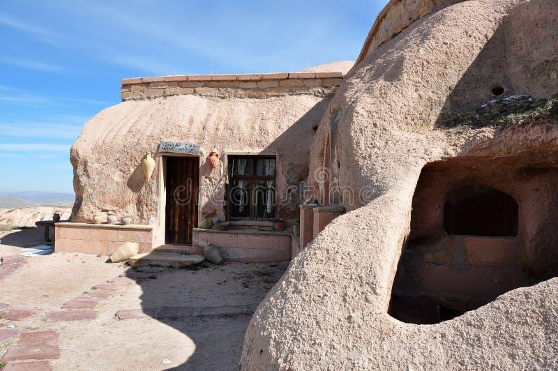 Casa da caverna em Turquia fotos de stock royalty free