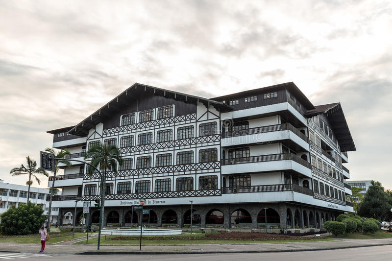 Casa da cidade de Blumenau Santa Catarina imagem de stock royalty free