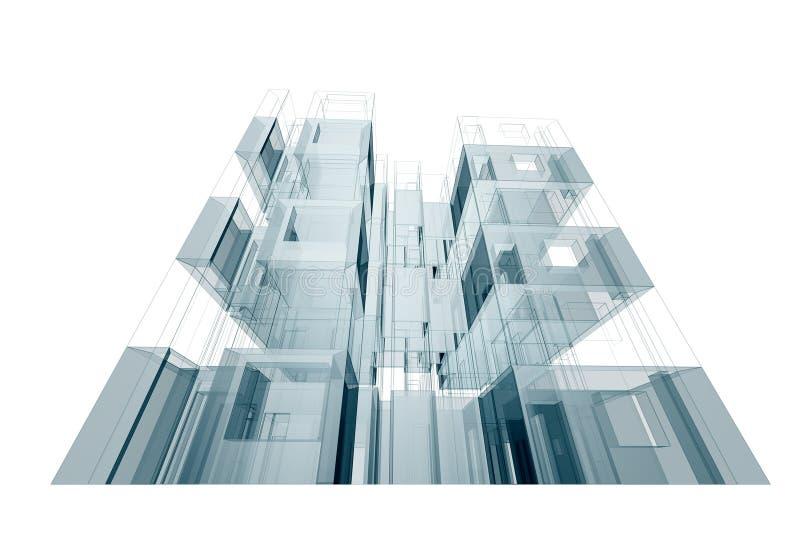 Casa da construção ilustração stock