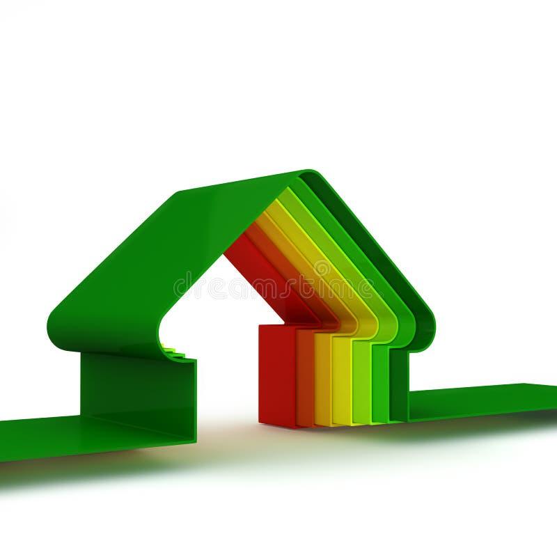 Casa da energia. Conceito da economia de energia ilustração do vetor