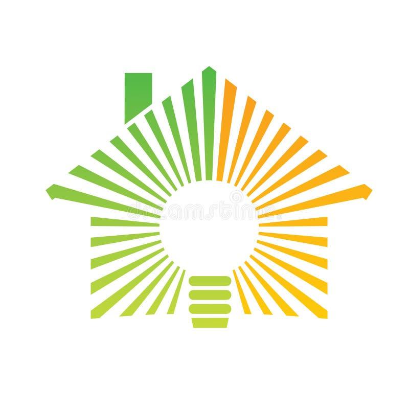 Casa da energia do logotipo ilustração royalty free