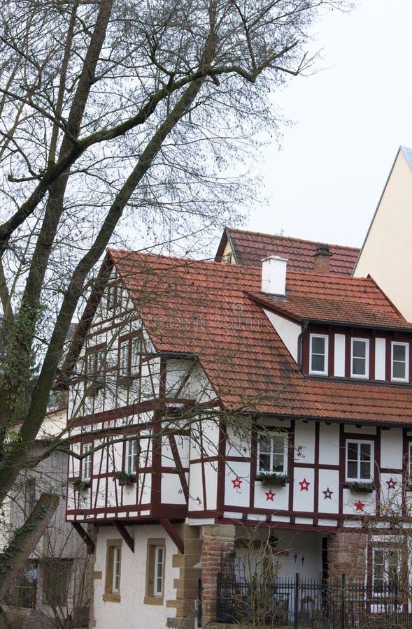 Casa da estrutura - IX - Waiblingen - Alemanha foto de stock royalty free