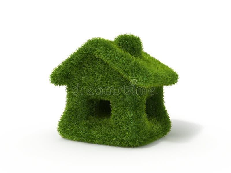 Casa da grama verde ilustração stock