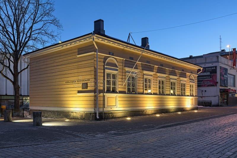 Casa da infância de Sibelius em Hameenlinna, Finlandia fotos de stock royalty free