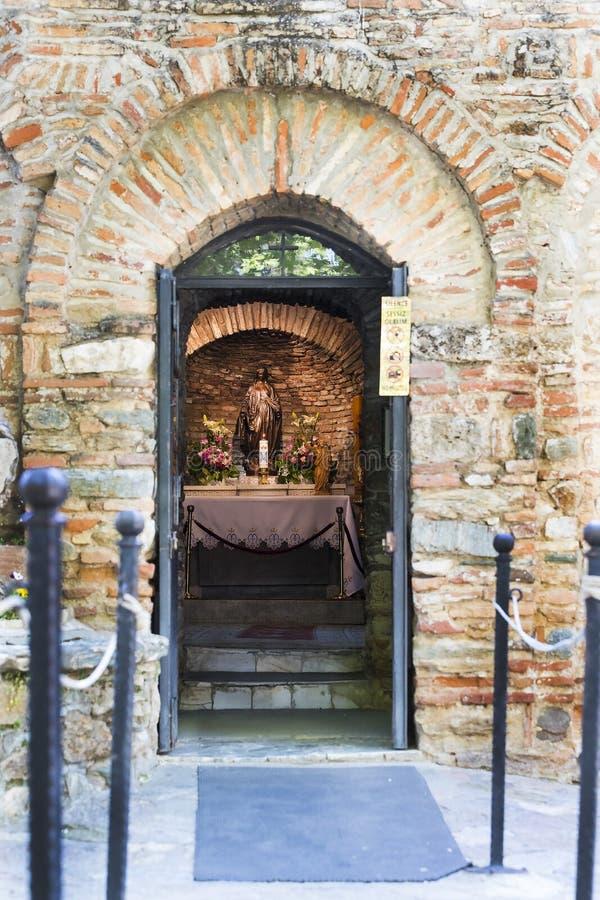 A casa da mãe do deus em Turquia, visitada de todo o mundo por peregrinos com pedidos para a ajuda imagens de stock royalty free