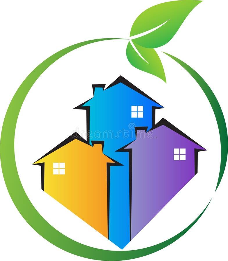 Casa da natureza do verde de Eco ilustração do vetor