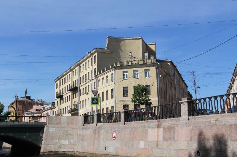 Casa da novela 'crime e punição 'de Dostoevsky fotos de stock royalty free