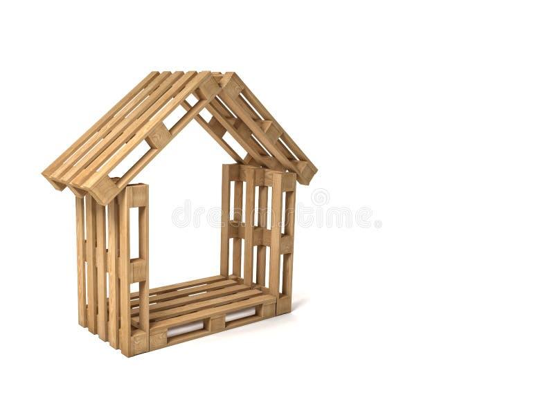 Casa da pálete ilustração stock