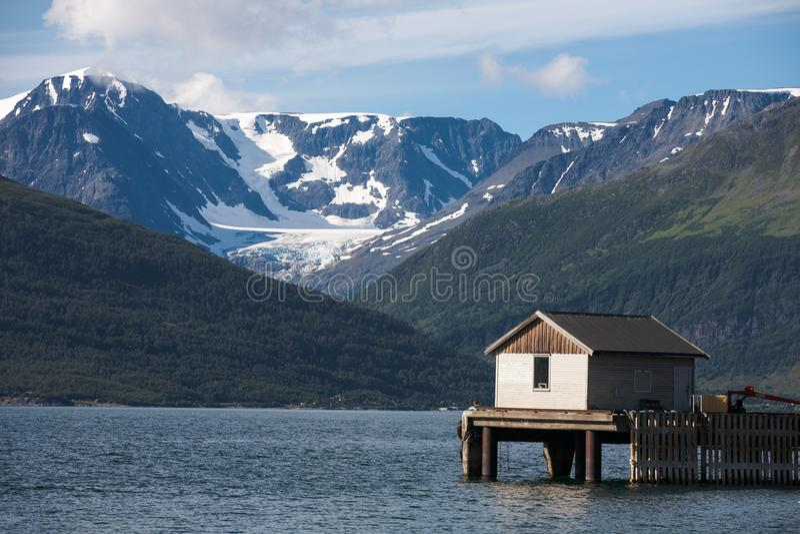 Casa da pesca fotografia de stock