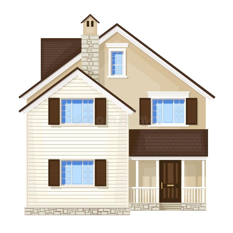 Casa da porta da rua ilustração stock