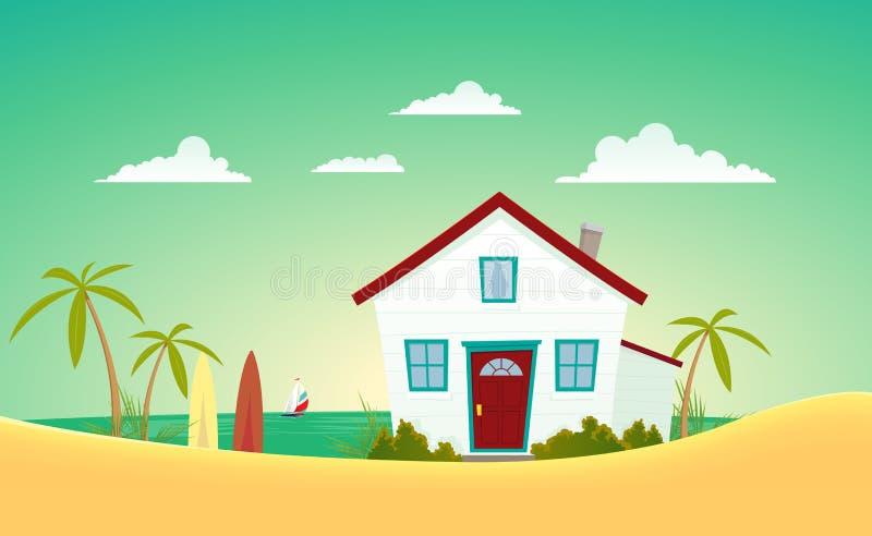 Casa da praia ilustração royalty free