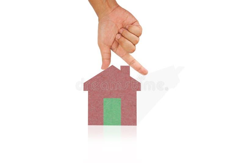 Casa da preensão da mão ilustração stock