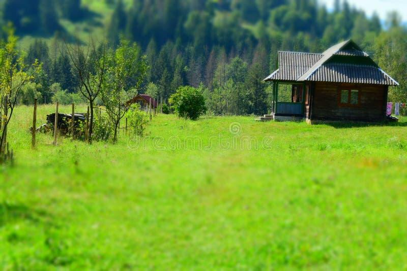 Casa da quinta de madeira fotografia de stock