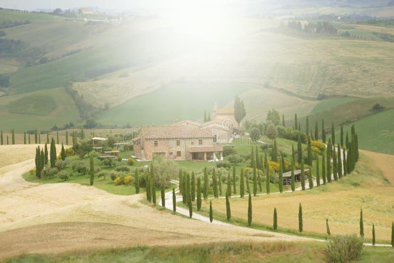 Casa da quinta de Tuscan imagem de stock