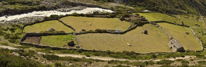 Casa da quinta, vale de Khumbu, Nepal imagens de stock royalty free