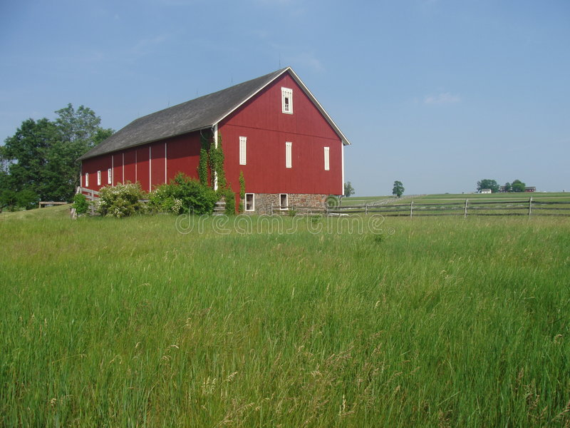 Casa da quinta vermelha em Gettysburg fotografia de stock royalty free