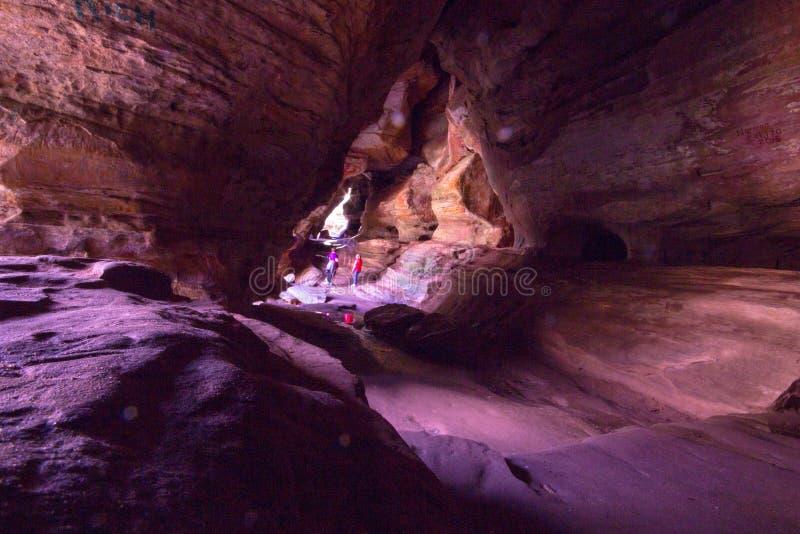 Casa da rocha de montes de Hocking fotos de stock royalty free