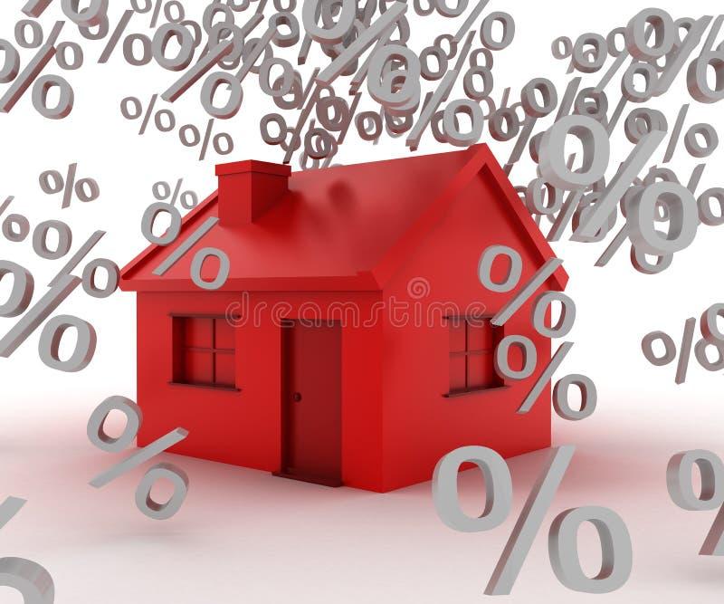 Casa da taxa ilustração royalty free