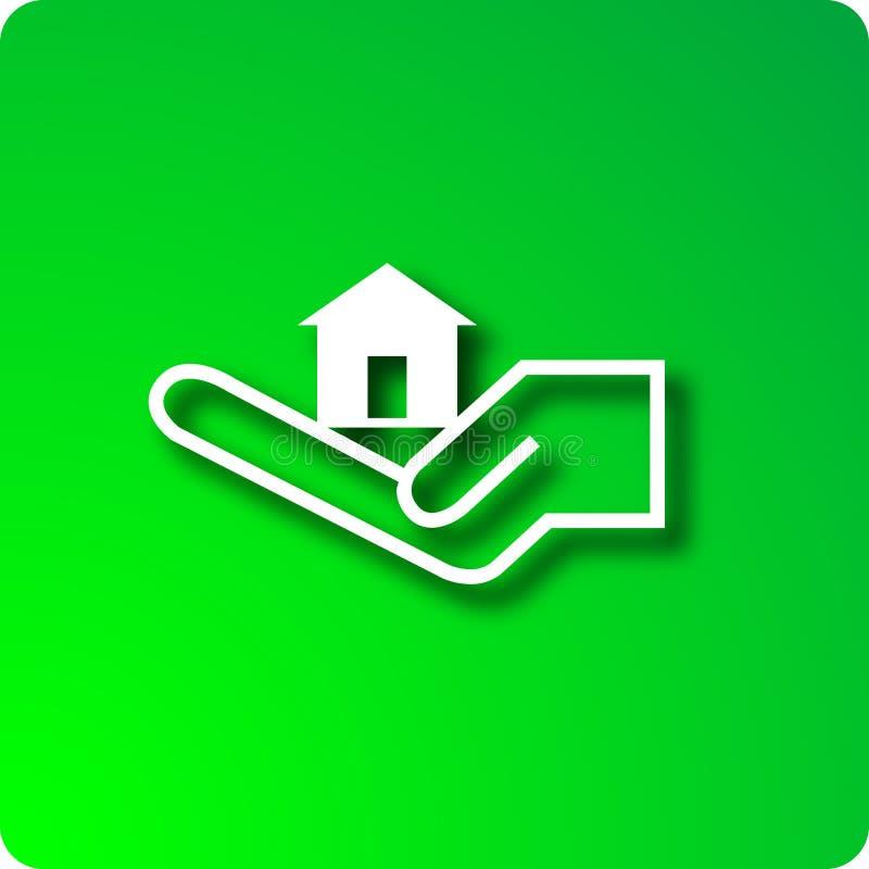 Casa da terra arrendada ilustração do vetor