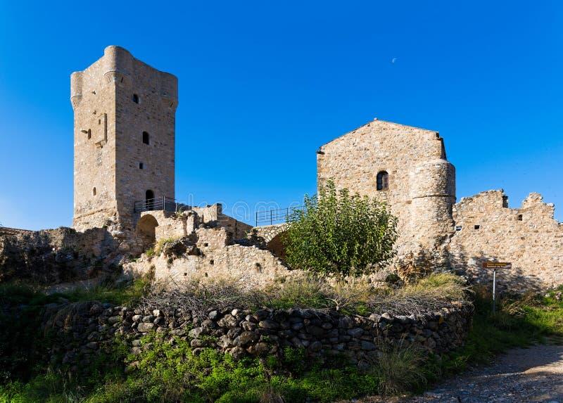 Casa da torre em Grécia fotografia de stock