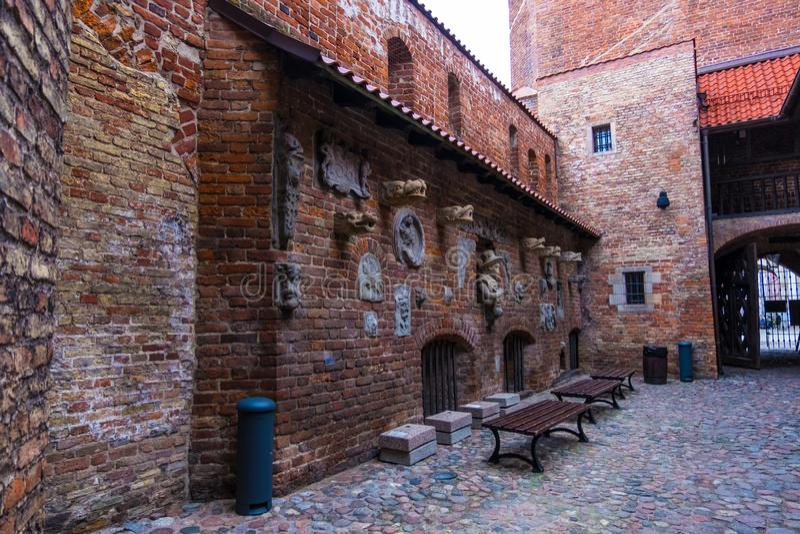Casa da tortura e torre da prisão na cidade principal Gdansk, Poland imagem de stock royalty free