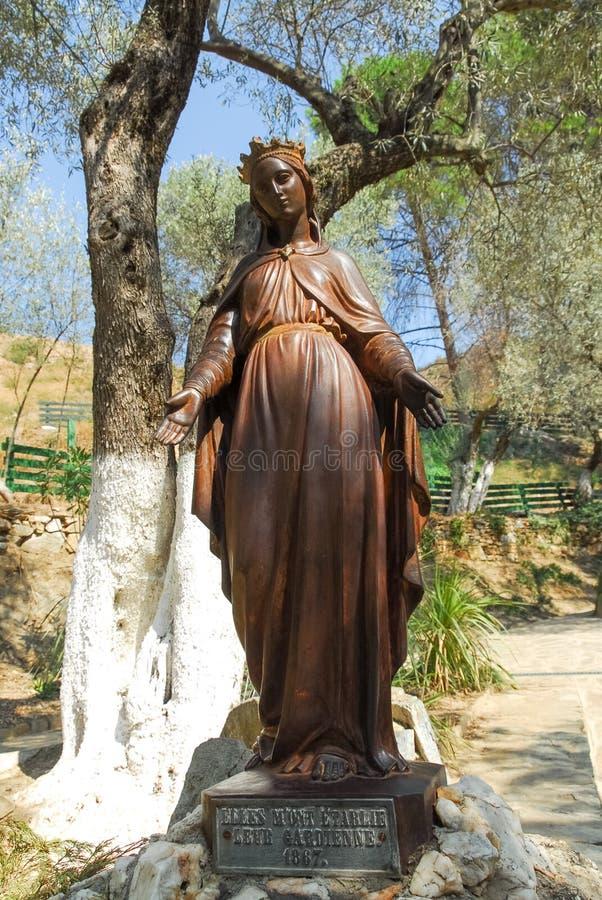 Casa da Virgem Maria - Ephesus, Turquia imagens de stock
