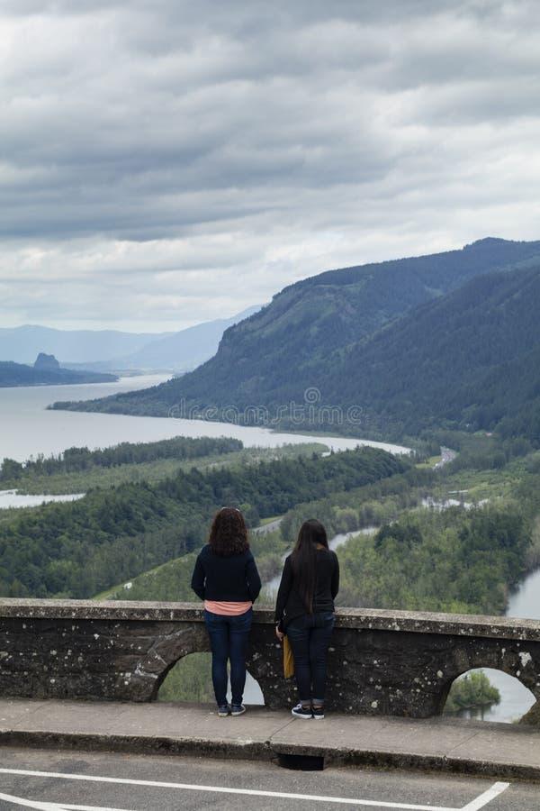 Casa da vista, desfiladeiro do Rio Columbia, Oregon fotografia de stock