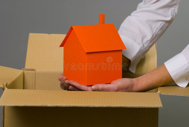 Casa dalla casella immagine stock libera da diritti