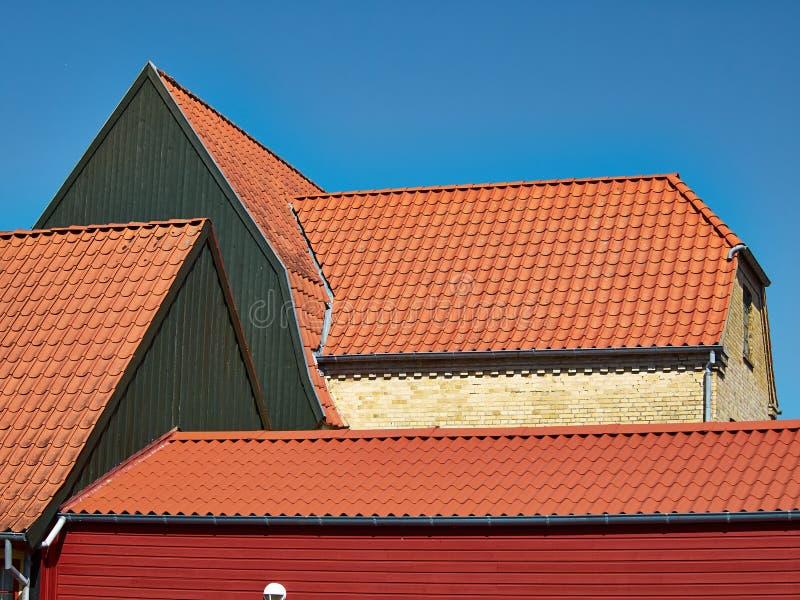 Casa danesa Assens Dinamarca del viejo estilo clásico tradicional foto de archivo
