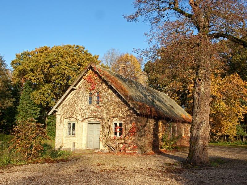 Casa danese tradizionale Danimarca del paese fotografie stock libere da diritti