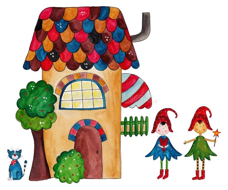 A casa das fadas ilustração royalty free