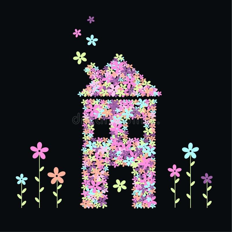 Casa das flores ilustração royalty free