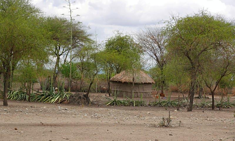 Casa das massas em Tanzânia, África imagens de stock