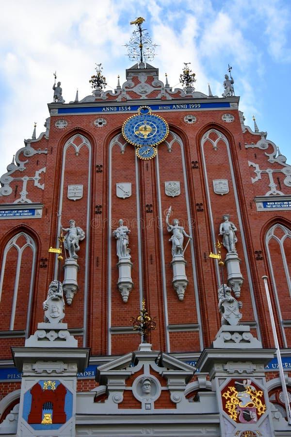 Casa das pústulas na cidade velha de Riga, Letónia foto de stock royalty free
