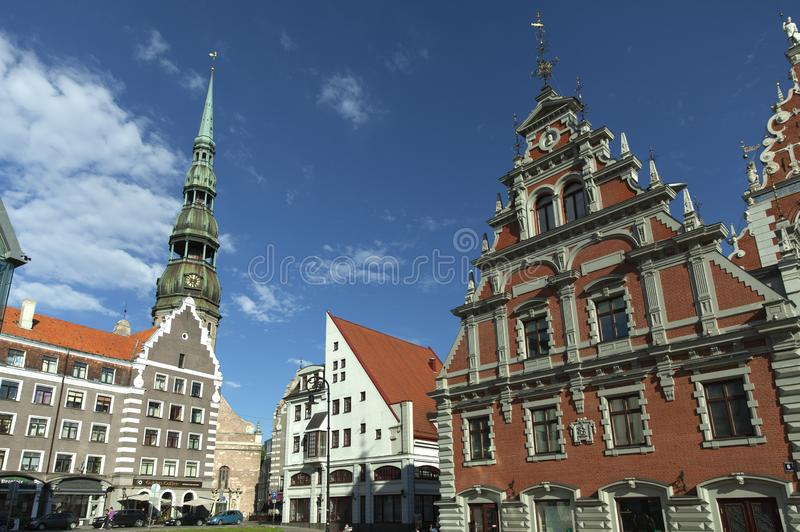 Casa das pústulas Riga imagem de stock royalty free