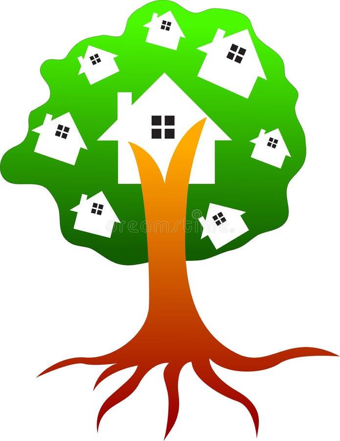Casa de árbol ilustración del vector