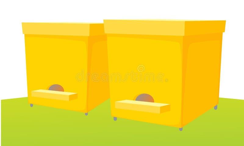 Casa de abelha ilustração royalty free