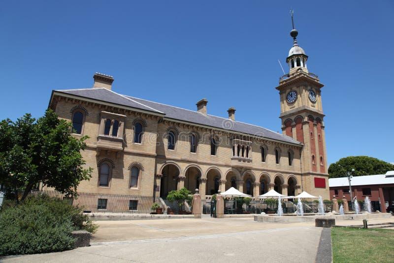 Casa de alfândega - Newcastle Austrália fotos de stock royalty free