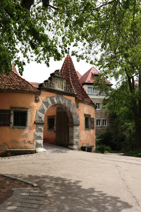 Casa de alfândega de Tauber do der do ob de Rothenburg e protetor House foto de stock