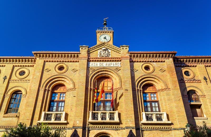 Casa DE Amparo in Zaragoza, Spanje stock fotografie
