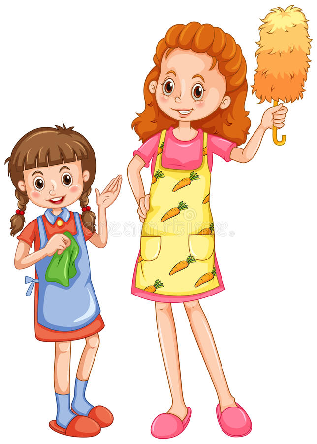 Casa de ayuda de la limpieza de la mam de la muchacha - Imagenes de limpieza de casas ...